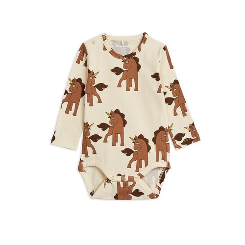Mini rodini Unicorns aop ls body
