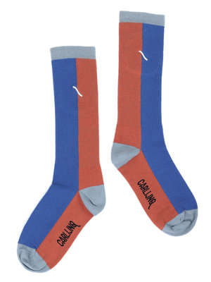 CarlijnQ Knee socks - brown / blue