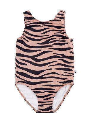 CarlijnQ Swimsuit - tiger + UPF50