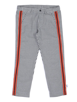 CarlijnQ Mini checkers - chino with stripes