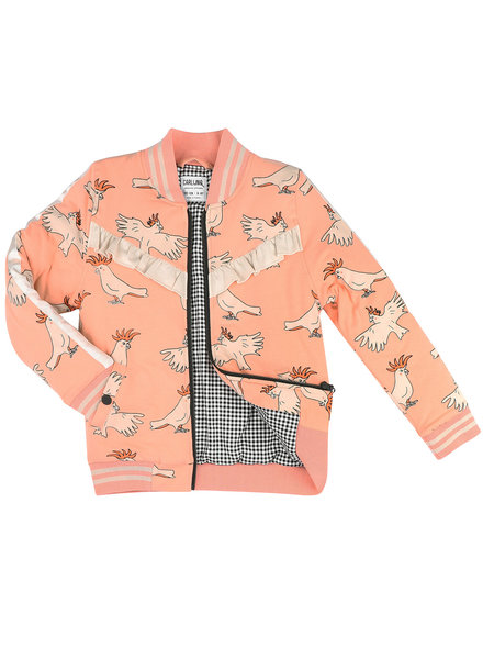 CarlijnQ Parrot - bomberjacket (lined with mini checkers)