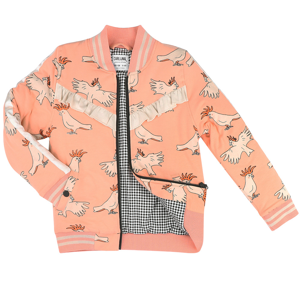 Parrot bomberjacket (lined with mini checkers)