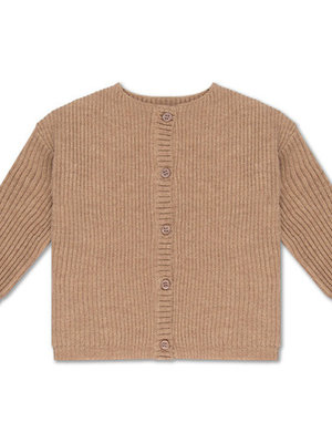 repose knit cardigan - camel
