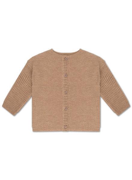 repose knit cardigan - camel