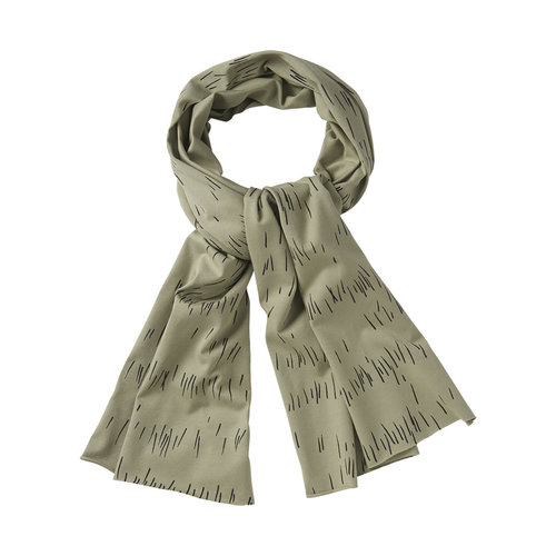 mingo Scarf Grass Print Oak - One size