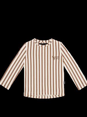 House of Jamie LONG SLEEVE TEE Toffee Stripes