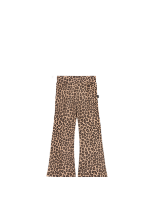 House of Jamie FLARED PANTS Caramel Leopard