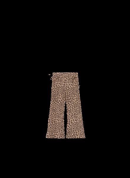 House of Jamie FLARED PANTS Caramel Leopard