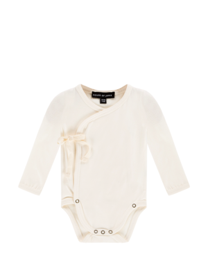 House of Jamie WRAP BODYSUIT Cream