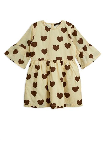 Mini rodini Hearts flared sleeve dress