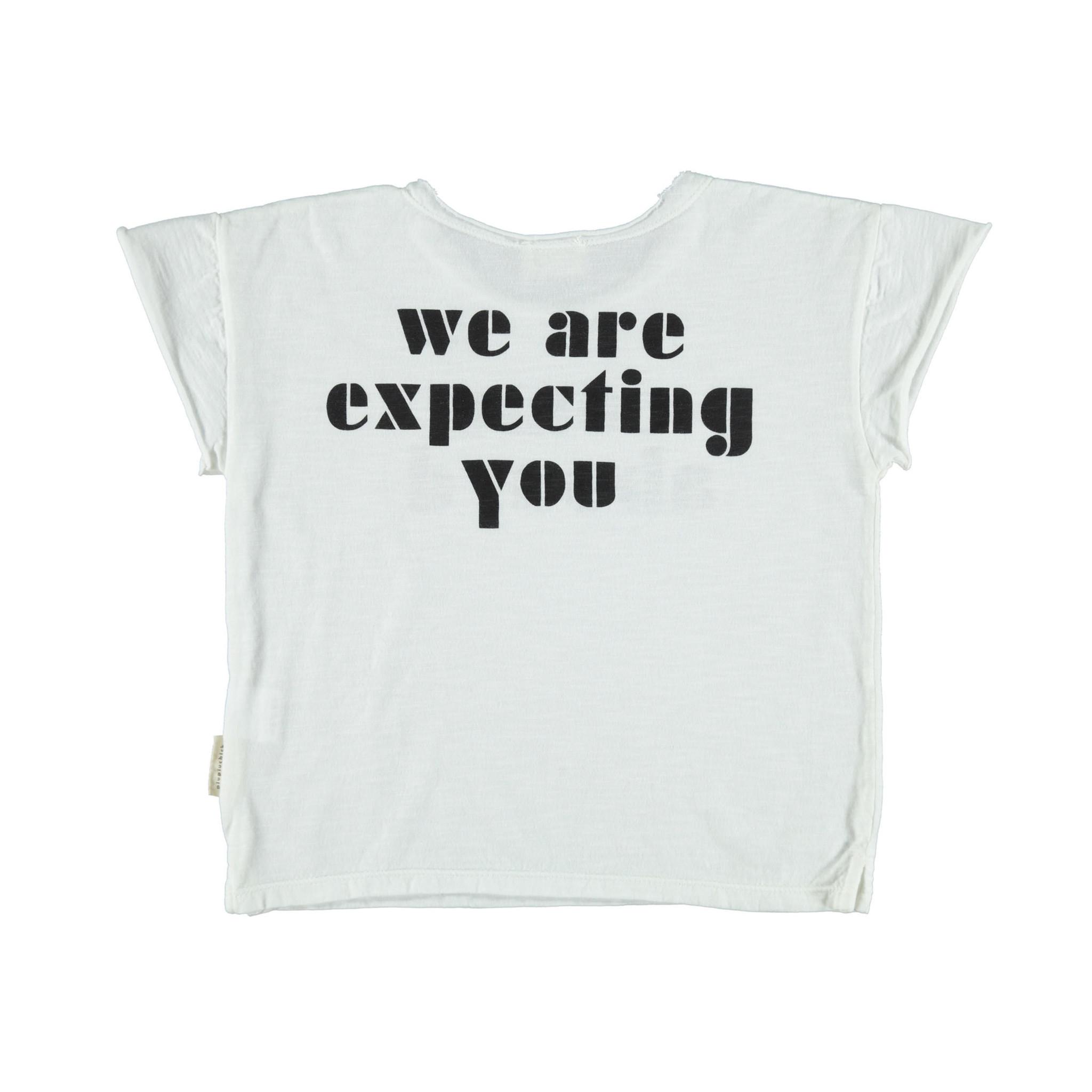 piupiuchick Tshirt ballon off white/black print