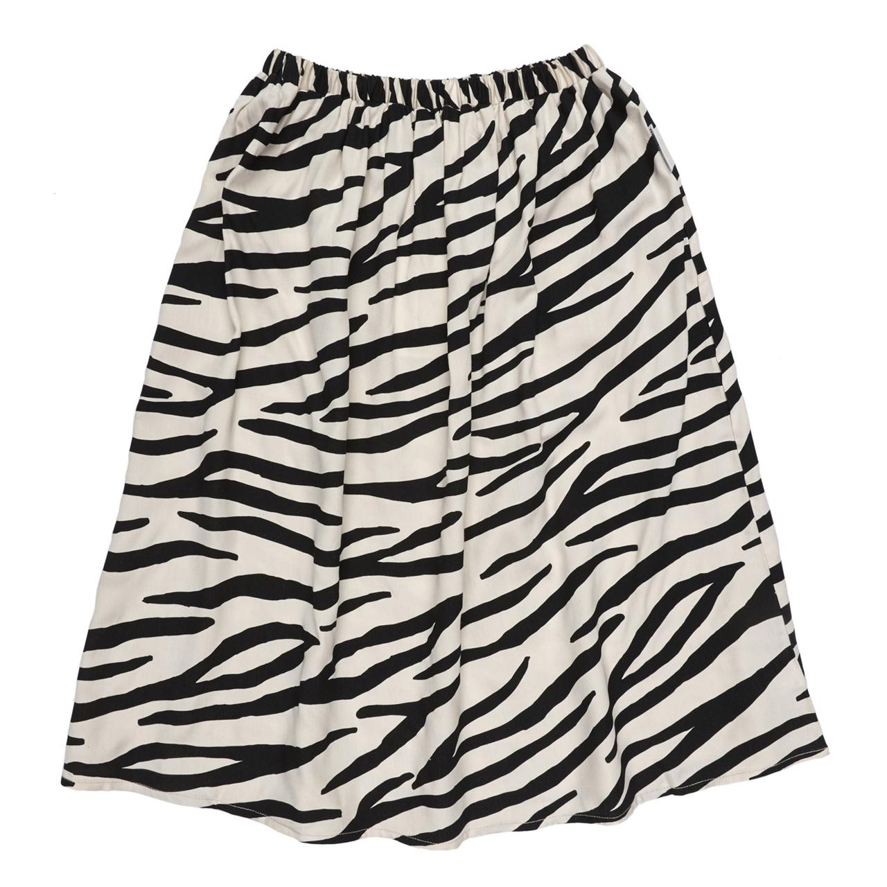 Maed for mini Smiling zebra skirt