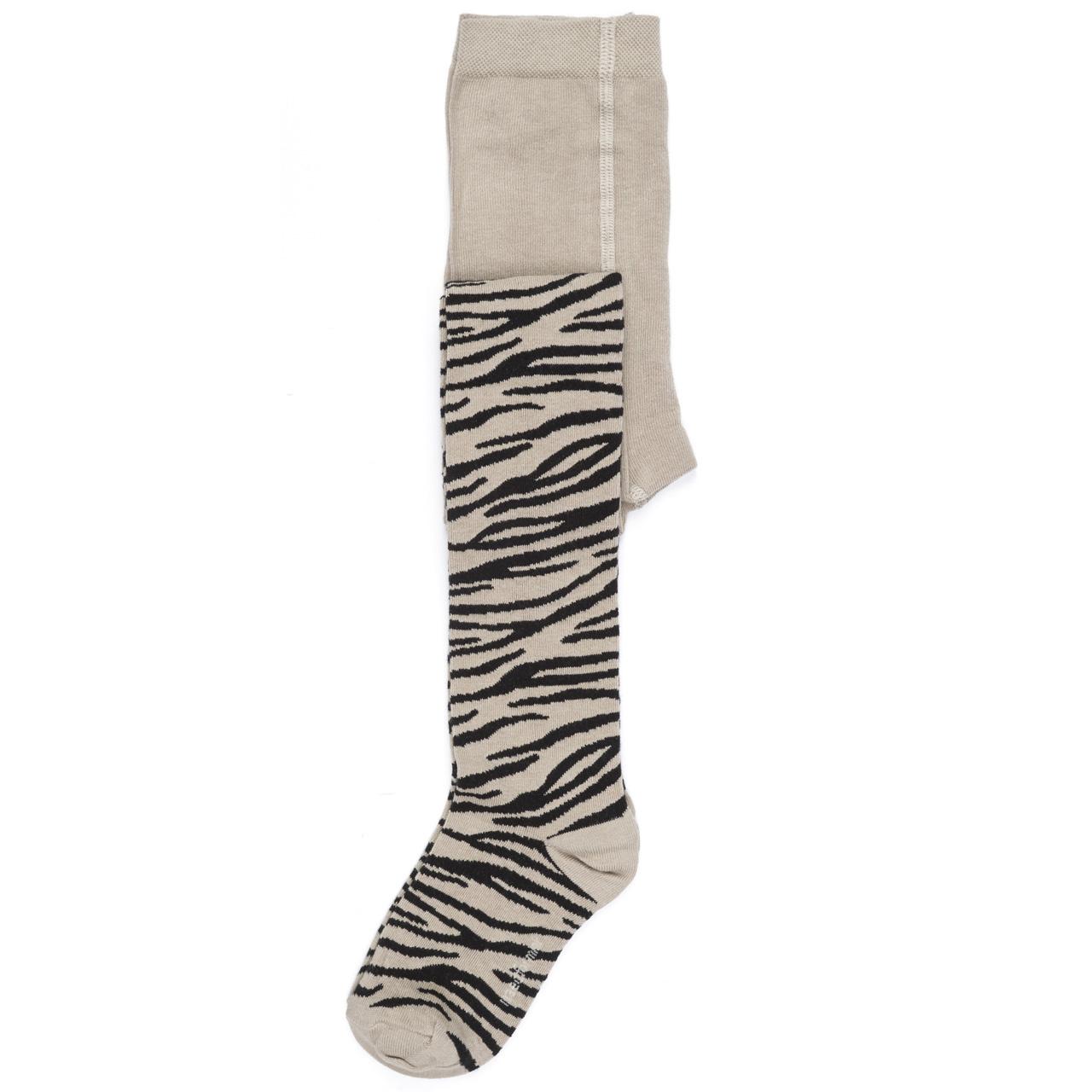 Maed for mini SMiling zebra tights