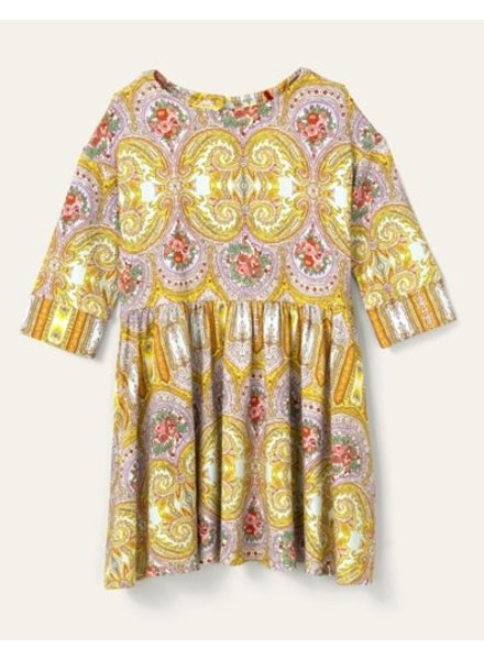 oilily Torient jersey dress old rose yellow