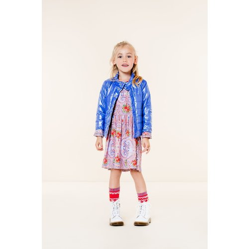 oilily Torient jersey dress old rose blue