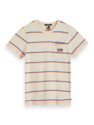 154880 T-shirt with neon stripes