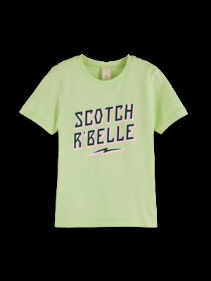Scotch & Soda Tshirt neongroen 155677