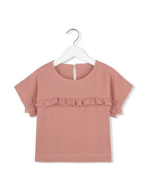 Kids on the moon CORAL CLOUD FRILL BLOUSE