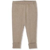 meo Knit pants cotton brown melange