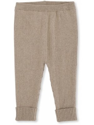 Konges slojd meo Knit pants cotton brown melange