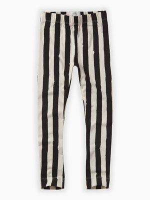 Sproet&Sprout Sweat legging Painted stripe zwart wit