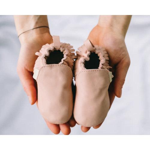 Boumy BAO slofje Pastel Pink Leather 0-6 maand