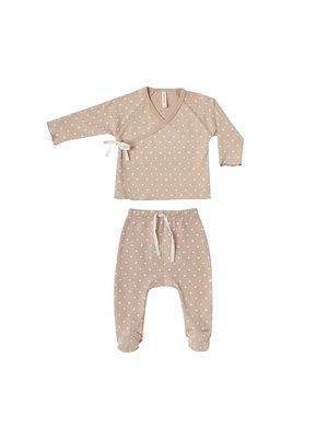 Quincy Mae Kimono top + pant set petal hearts
