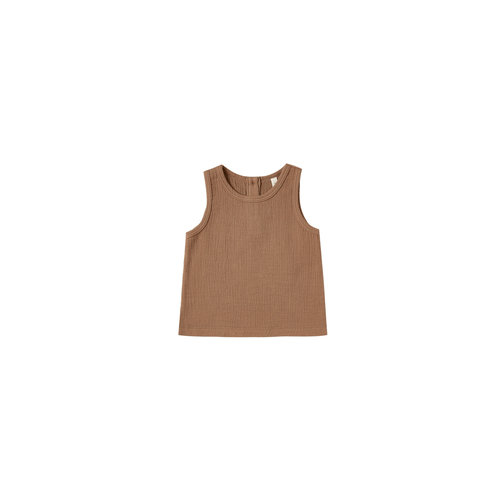Quincy Mae Woven top rust