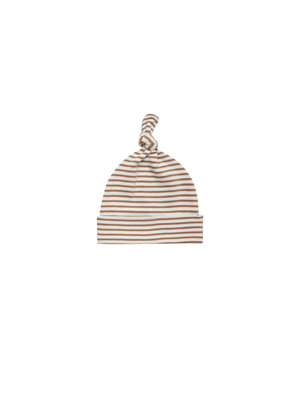 Quincy Mae Baby hat rust stripe