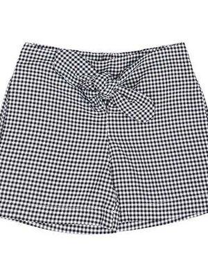 CarlijnQ Mini checkers paper bag shorts