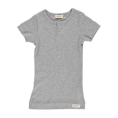 MarMAr CPH T-shirt grijs met knoopjes