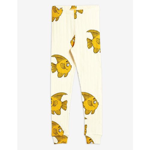 Mini rodini Fish aop leggings offwhite