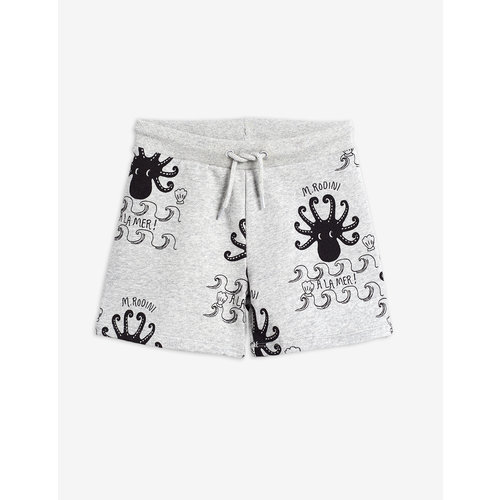 Mini rodini Octopus aop sweatshort grey melange