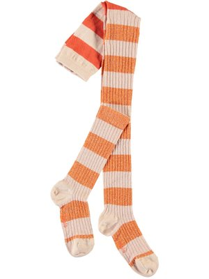 Molo stripy tights blossom stripe