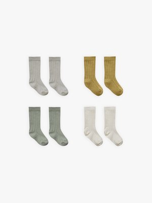 Quincy Mae Ribbed socks 4pack