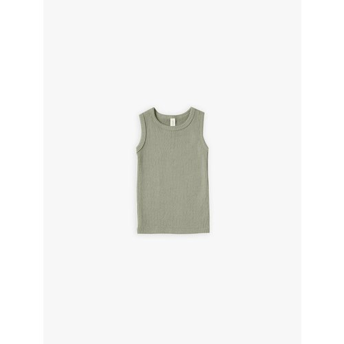 Quincy Mae Ribbed tanktop Moss