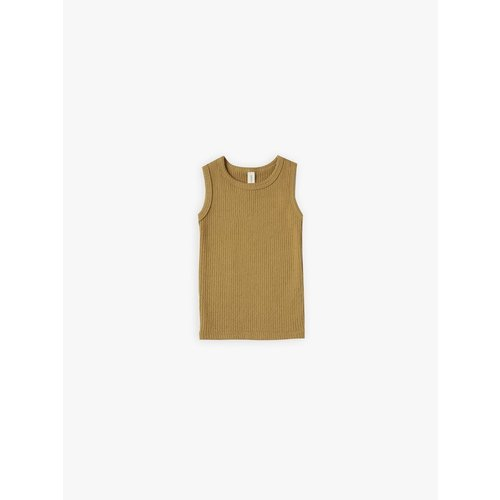 Quincy Mae Ribbed tanktop Ocre