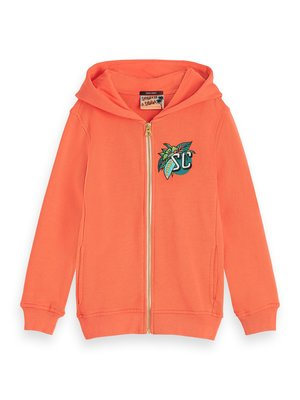 Scotch & Soda 154810 Embroidered Artwork Hoodie Coral