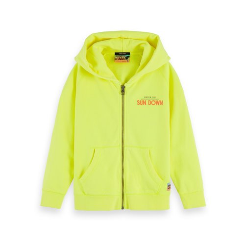 Scotch & Soda 154802 Garment Dyed Hoodie Neon Lemonade
