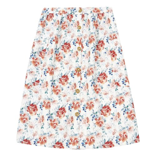 piupiuchick Long skirt floral pattern