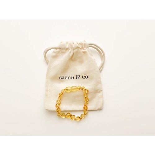 Grech & co BALTIC AMBER CHILDREN'S BRACELET / ANKLET - ENLIGHTEN 14,5 cm