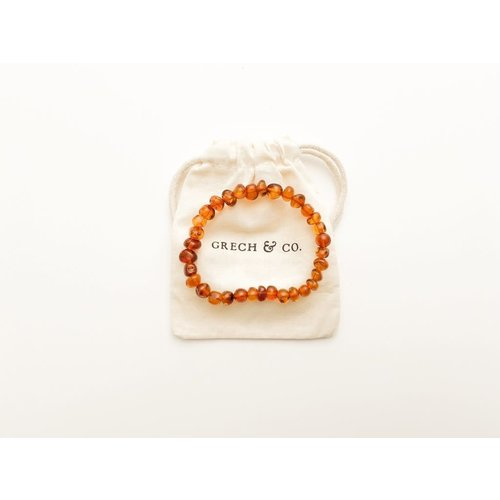 Grech & co BALTIC AMBER - ADULT BRACELET - STRENGHT18 cm