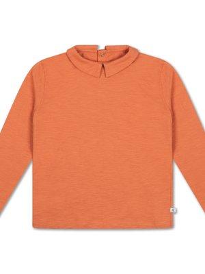 Repose AMS Tee shirt with collar burnt autumn