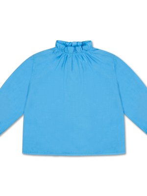 Repose AMS Ruffle blouse bright skye blue