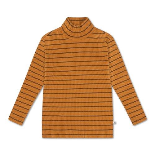 Repose AMS Turtle neck golden noir fine stripe