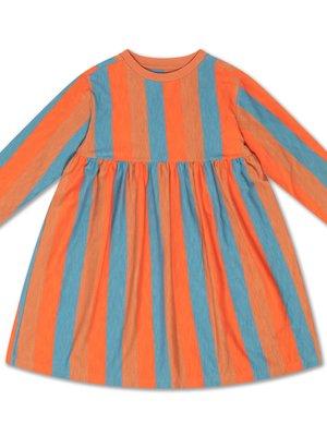 Repose AMS Midi dress multi block stripe