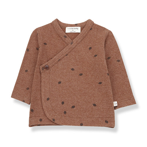 1+ in the family PEGUERA newborn shirt toffee