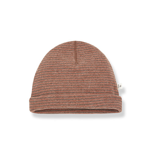1+ in the family YOHO beanie toffee/terrau