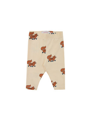 "Tiny cottons ""FOXES"" PANT cream/brown"