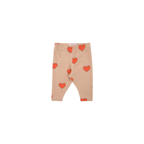 "Tiny cottons ""HEARTS"" PANT light nude/red"